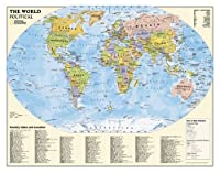 National Geographic Maps RE01020564 Political World Education Grades 4-12