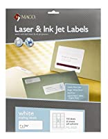 maco white copier address labels 1 x 2 13 16 inches 33 per sheet