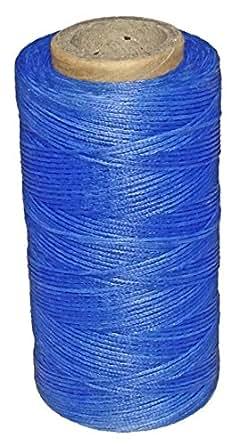 レザークラフト 糸 手縫い 蝋引き糸 260m ブルー インディゴブルー 青 藍色
