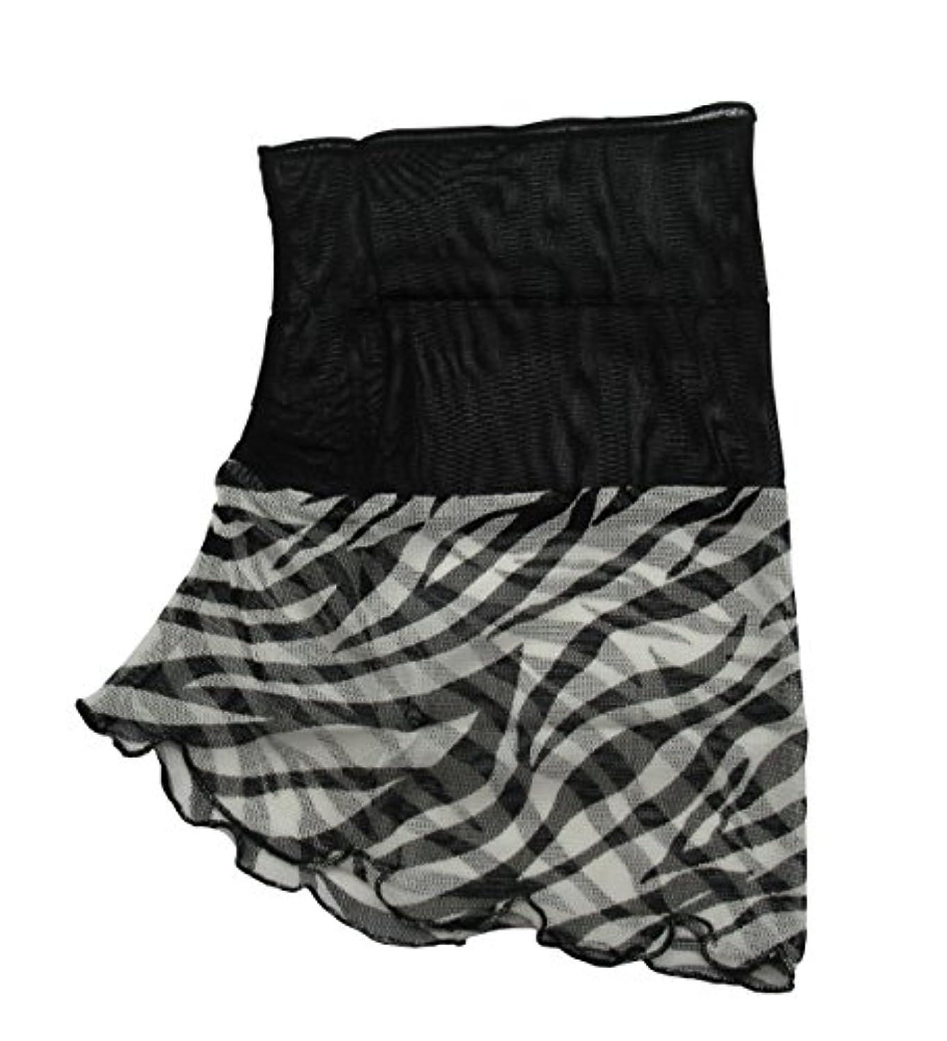 熟読と間違えたコジット ネックロールスカーフ シルク100% 首巻き 襟巻き 日よけ ブラック×ホワイト