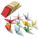 amzmonnsuta  520個入り5x5cm 折り紙 まっ四角紙 カラフルな 千羽鶴 DIY用 両面 手作り