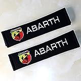 アバルト ABARTH シートベルト パッド カバー 刺繍入り (2本分) 【輸入品】