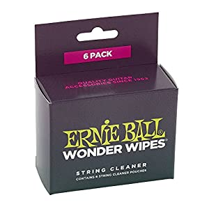 【正規品】 ERNIE BALL 楽器用 ケアグッズ 弦クリーナー 6個入 Wonder Wipes String Cleaner 6-Pack 4277