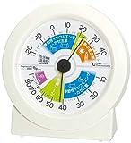 エンペックス気象計 温度湿度計 生活管理温湿度計 置き用 日本製 オフホワイト TM-2880