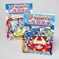 カラーリングandアクティビティブック–Crazy Carzzz ( Pack of 24)