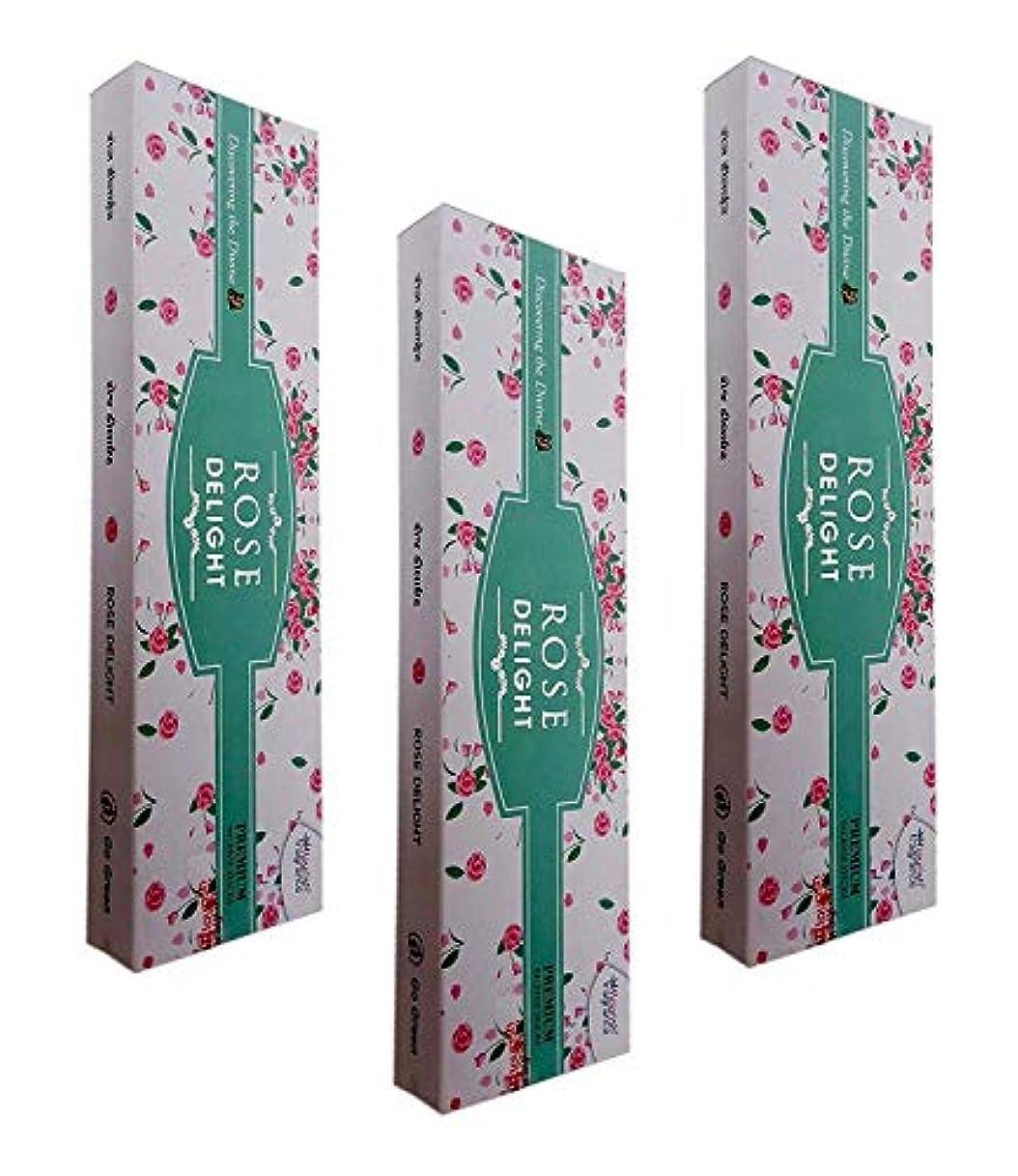 学校の先生後継無秩序FLORISH FRAGRANCE Rose Delight AGARBATTI Sticks Pack of 3 (50 GM Each)