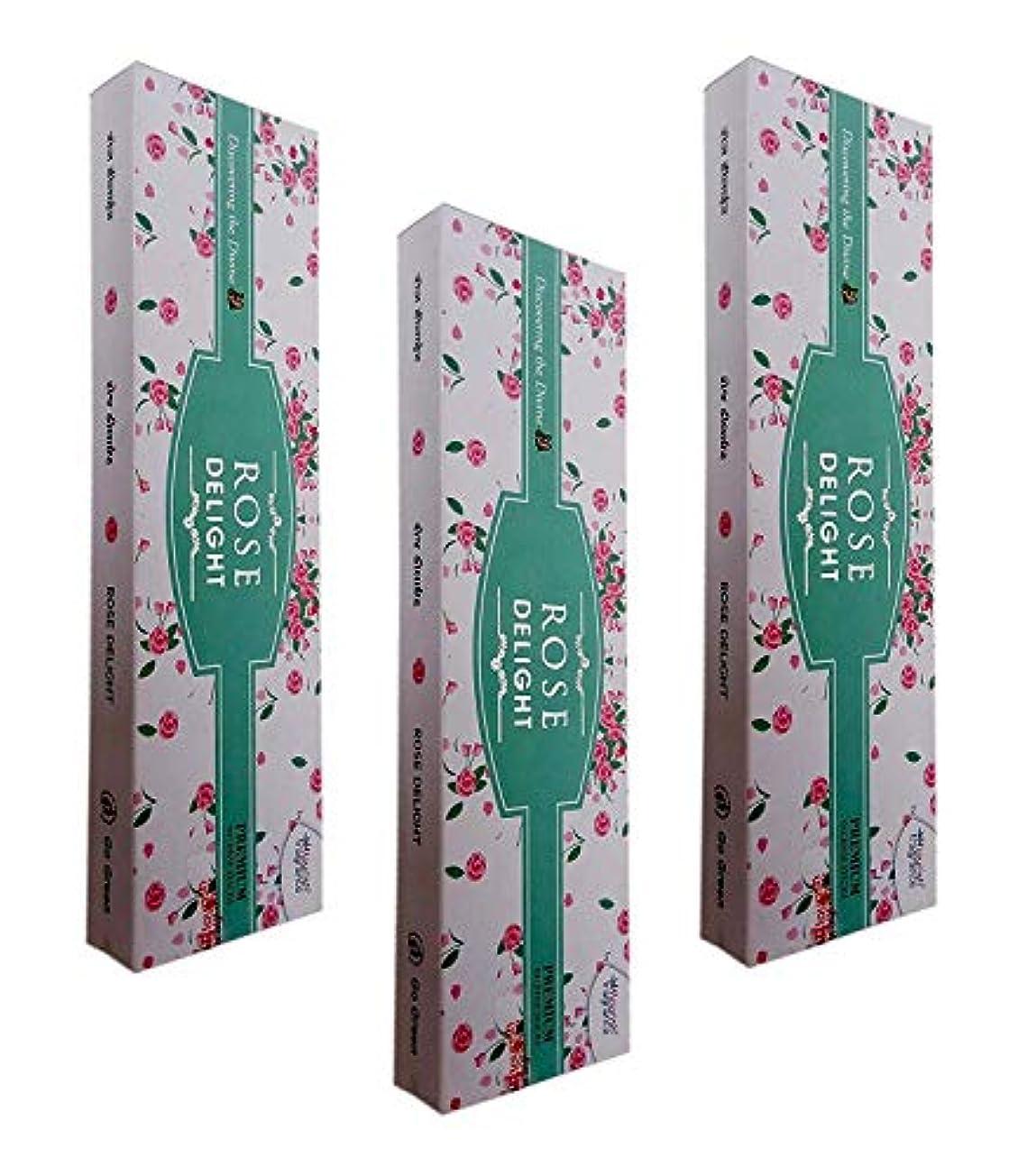 男らしい補足置くためにパックFLORISH FRAGRANCE Rose Delight AGARBATTI Sticks Pack of 3 (50 GM Each)