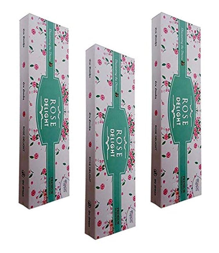 インゲンそれから熟すFLORISH FRAGRANCE Rose Delight AGARBATTI Sticks Pack of 3 (50 GM Each)