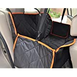 Thick Dog Seat Cover Car Seat Cover with Side Flaps,Pet Seat Cover Hammock,Heavy Duty Waterproof Scratch Proof Nonslip Durable Machine Washable Soft Pet Back Seat Covers for Cars Trucks and SUVs