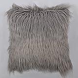 OiseauVoler フェイクファー クッションカバー 抱き枕ケース 装飾枕 ピローケース ふわふわ ソファ ルーム 部屋飾り 45 x 45cm