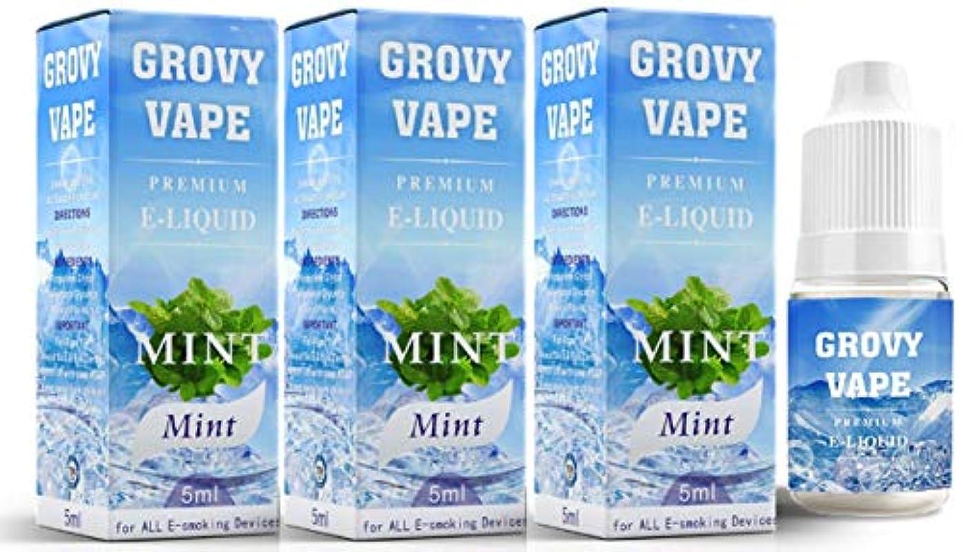 空白年齢サイクル電子タバコ リキッド 5ml 3本セット (GROVY VAPE) (ミント 5ml 3本セット)