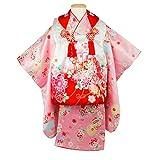 (キョウエツ) KYOETSU 七五三 3歳 着物 女の子 被布セット 正絹 フルセット (26-E)