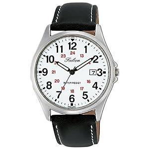 [シチズン キューアンドキュー]CITIZEN Q&Q 腕時計 Falcon ファルコン アナログ 革ベルト 日付 表示