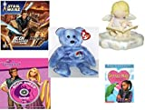 Girl's Gift Bundle - Ages 6-12 [5 Piece] - STAR WARS Jedi Unleashed Game - Cutie Patootie Storytime Angel Figurine - Ty Beanie Babies Peace The Bear - Disney Padded Storybook and Singalong CD Hardco [並行輸入品]