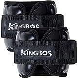 KINGBOS アンクルウェイト リストウェイト 筋トレ ?0.5kg / 1kg / 1.5kg / 2kg / 3kg 2個セット パワーアンクル リストバンド (0.5)