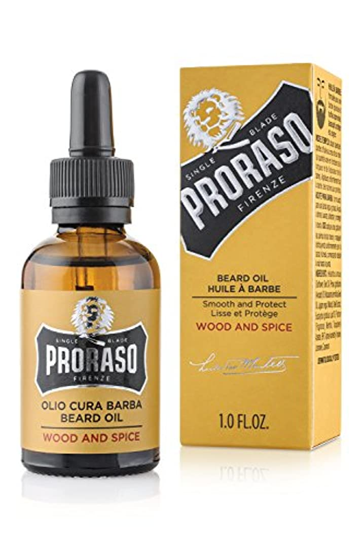 抵当とても本質的にPRORASO(ポロラーソ) ビアードオイル ウッド&スパイス