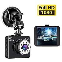 ダッシュカム、フルHD 1080Pダッシュカメラ2.7インチLCDカーカメラダッシュボードカメラ、120度の広角Gセンサーループ録画パーキングモニターAccfly
