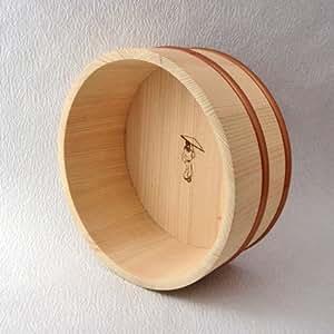 ヒノキの風呂桶(22cm・ZUKIN) 四万十桧&PPタガ使用【産地直送品】檜(ひのき) 桧風呂桶