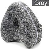 Memory Knee Pillow Leg Positioner Orthopedic Cushion Relief Hip Pain Sciatica (Gray)