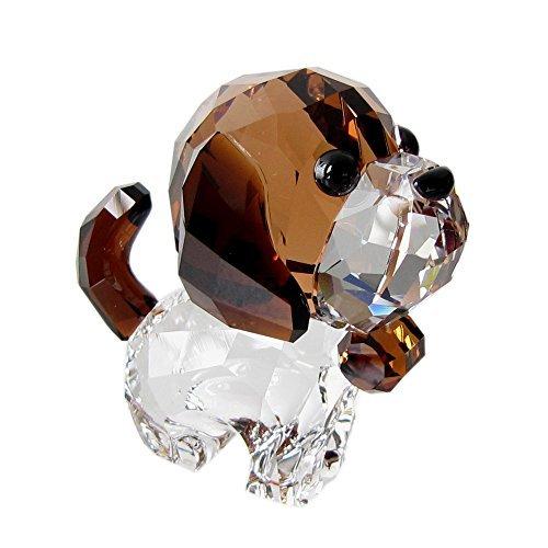 スワロフスキー SWAROVSKI クリスタル フィギュア Puppy Bernie(セントバーナード) 5213704 [並行輸入品]