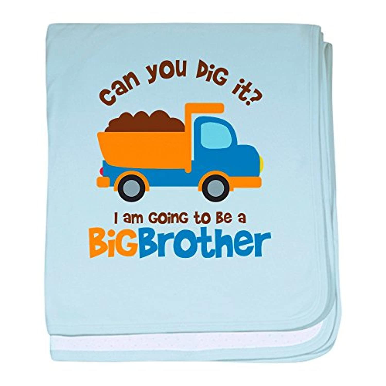 CafePress – ダンプトラックBig Brother To Be – スーパーソフトベビー毛布、新生児おくるみ ブルー 074890664925CD2