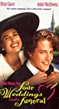 Four Weddings & A Funeral [VHS] [Import]