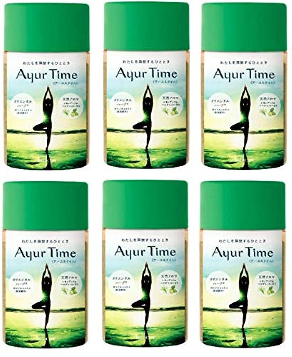 想像する時代遅れ油バスクリン アーユルタイム レモングラス & ベルガモット の香り 720g バスソルトX6個セット