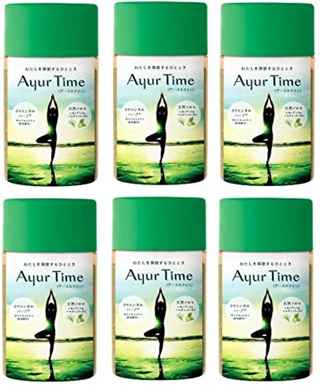 バスクリン アーユルタイム レモングラス & ベルガモット の香り 720g バスソルトX6個セット