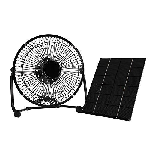 扇風機 ソーラー 8寸 ポータブル ファン 卓上扇風機 ミニ...