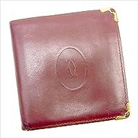 カルティエ Cartier 二つ折り財布 ユニセックス マストライン 中古 Y7284