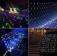 妖精の網のひもライト、妖精のひもの装飾的なライトLEDリモート - クリスマスツリー - ラップウェディングガーデンホーム屋内屋外 - 色 3 * 3m