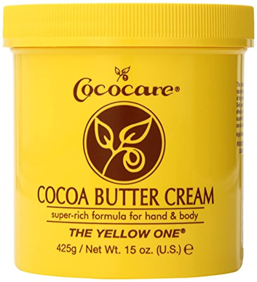 小石控えめなナプキンCococare, The Yellow One, Cocoa Butter Cream, 15 oz (425 g)