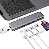 最安|評価は?USB Cハブ USB Type-C PD充電ポート 4K HDMI出力ポート SD/MicroSDカードスロット USB3.0ポート*3 MacBook Air 2018/MacBook Pro 13/15inch専用 Thunderbolt 3に対応