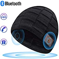 Bluetooth Beanie, Mens Gifts, Bluetooth Hat, Women Mens Beanie Hats with Bluetooth Headphones, Fits for Outdoor Sports, Skiing,Running, Skating, Walking, Christmas Birthday Gifts for Men Women
