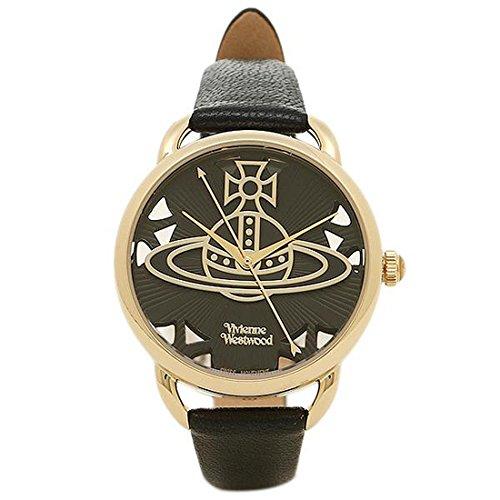 (ヴィヴィアンウエストウッド) Vivienne Westwood ヴィヴィアンウエストウッド 時計 VIVIENNE WESTWOOD VV163BKBK LEADENHALL レドンホール レディース腕時計ウォッチ ブラック/ゴールド [並行輸入品]