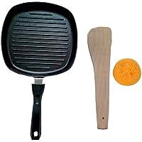 テフロン加工のスクエアグリルパン、グリルパン、調理器具グリルパン、深いGriddleパン、深いスクエアグリルパン