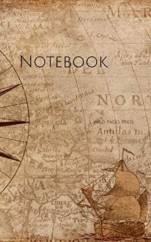 [画像:Notebook: compass map nautical antique navigation vintage captain ship]