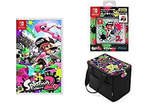 Splatoon 2 (スプラトゥーン2)+Nintendo Switch専用カードポケット24 スプラトゥーン2+オールインボックス スプラトゥーン2+【Amazon.co.jp限定】オリジナルメタルチャーム3種(ガール・ボーイ・イカ(連結可能))