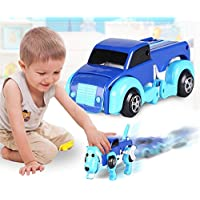(A) - FIRERO The Dog Car Transformer Novelty Clockwork Deformable Car Dog New Year Kids Toy (A)
