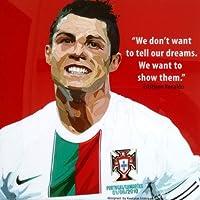 クリスティアーノ・ロナウド ポルトガル代表 海外サッカーグラフィックアートパネル 木製ポスター インテリア