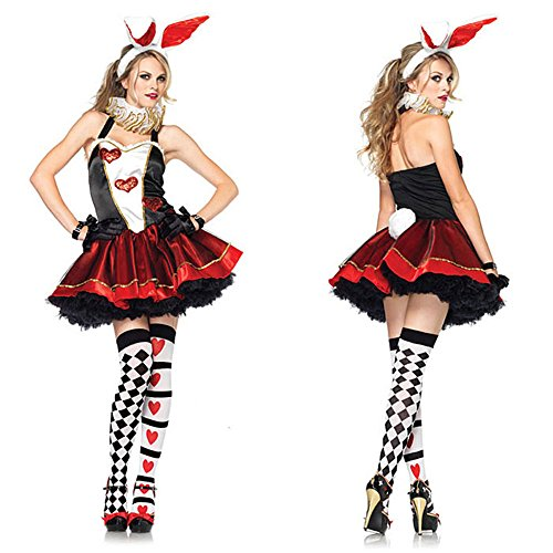 バニーガール ハロウィン コスプレ コスチューム 仮装 不思議の国のアリス 三月ウサギ風コスチューム cos1001