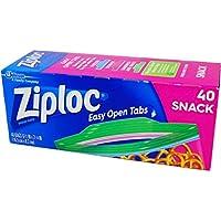 Ziploc スナックバック 40P 【3個セット】 生活用品 インテリア 雑貨 キッチン 食器 耐熱容器 耐熱皿 電子レンジ調理器 14067381 [並行輸入品]