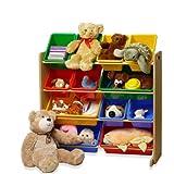 [おかたづけ上手] おもちゃ箱4段 ヴィヴィッド 「大好きおもちゃを楽しくおかたづけ」
