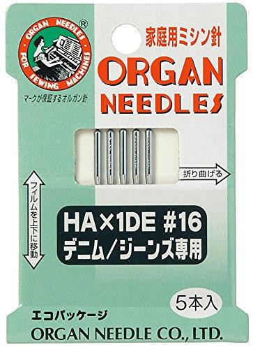 オルガン針 ORGAN NEEDLES 家庭用ミシン針 HA×1DE #16 デニム/ジーンズ専用