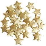 amleso キラキラ 布製 星 スター 紙吹雪 クリスマス パーティー 手作り装飾 工芸品 約100個 2色選べ - ゴールデン 3.5cm