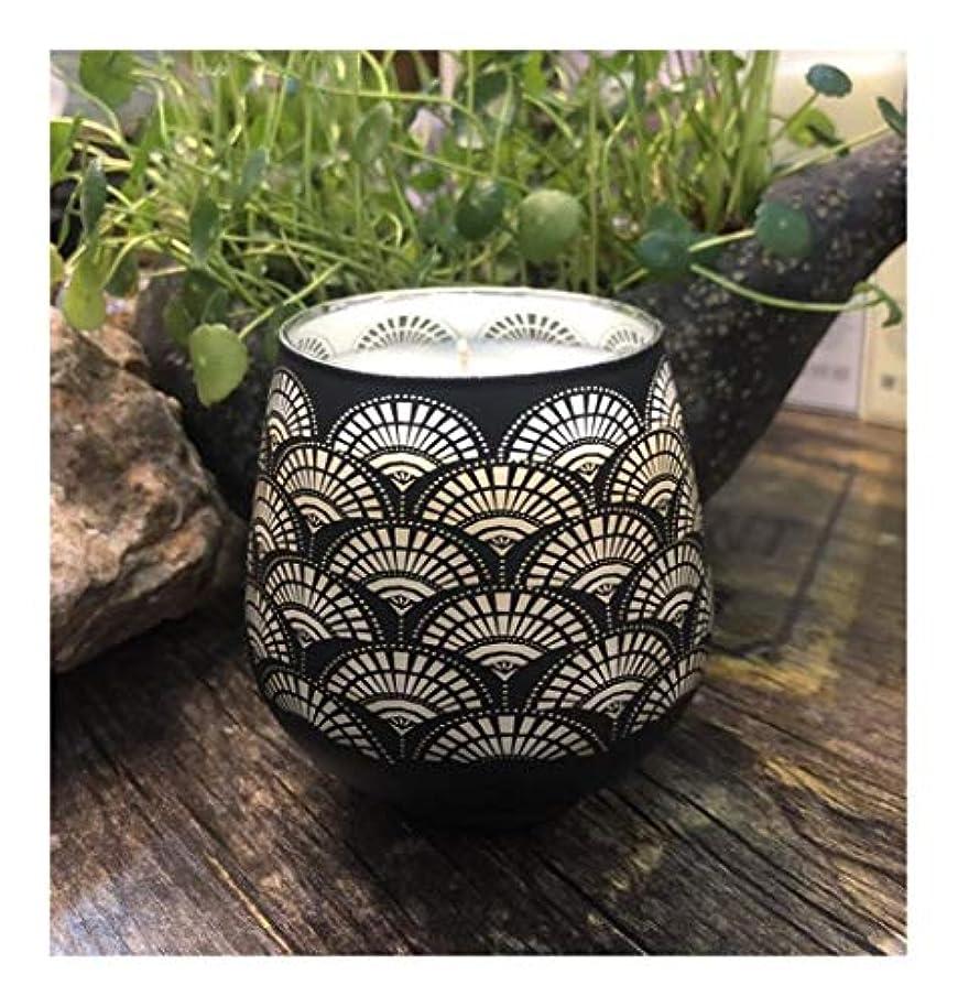 スイングインド思い出Ztian エッセンシャルオイルパターンガラス香料入りの蝋燭の家の装飾の大豆の屋内香料入りの蝋燭