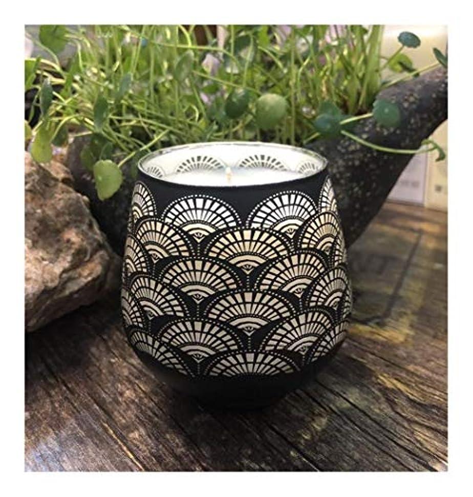 予定アテンダント札入れGuomao エッセンシャルオイルパターンガラス香料入りの蝋燭の家の装飾の大豆の屋内香料入りの蝋燭