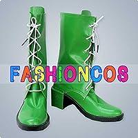 ★サイズ選択可★女性24.5CM UA0845 美少女戦士セーラームーン セーラージュピター 木野まこと コスプレ靴 ブーツ