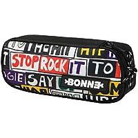 Bonne ('Bone') Hip Hop Graphic Design Pencil Case, Pen Case, Stationary Case, School Bag, Pen Pouch for Art, School, Office, Home