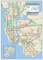 ポスター 作者不明 New York City Subway Map 額装品 アルミ製ベーシックフレーム(ホワイト)